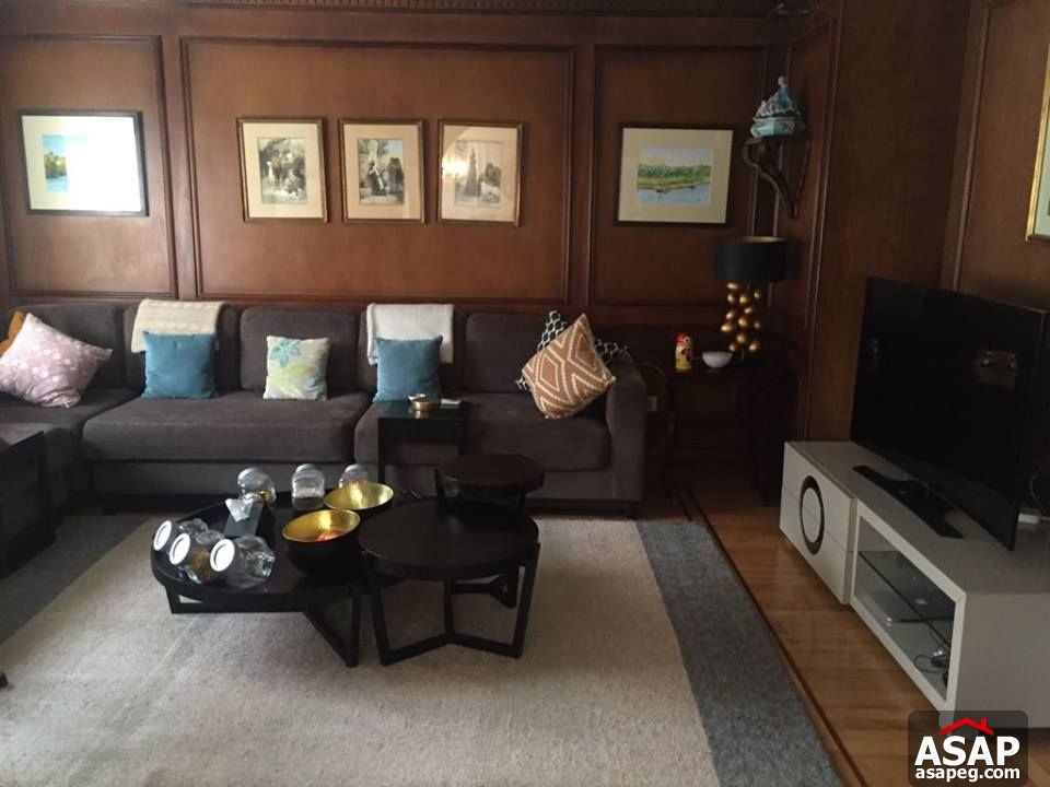 Apartment with Nile View in Zamalek for Rent