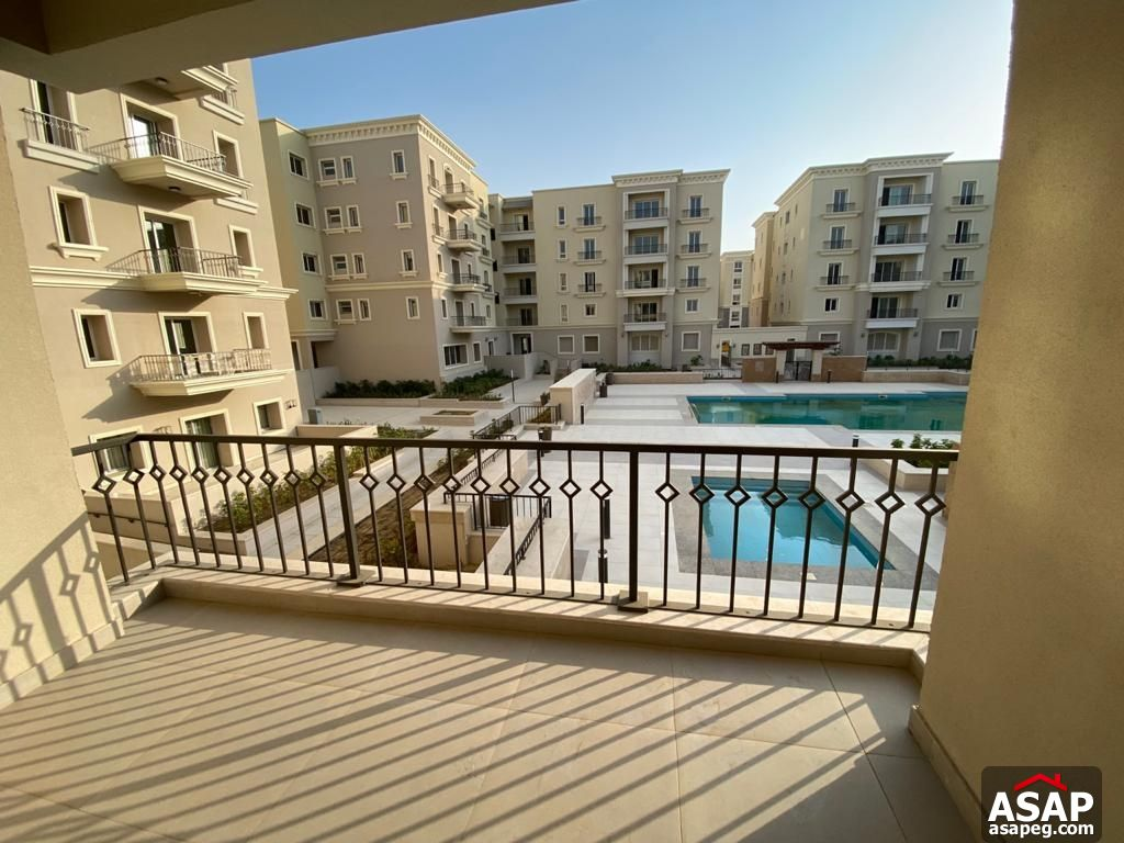 Apartment with Pool View for Rent in Mivida Compound