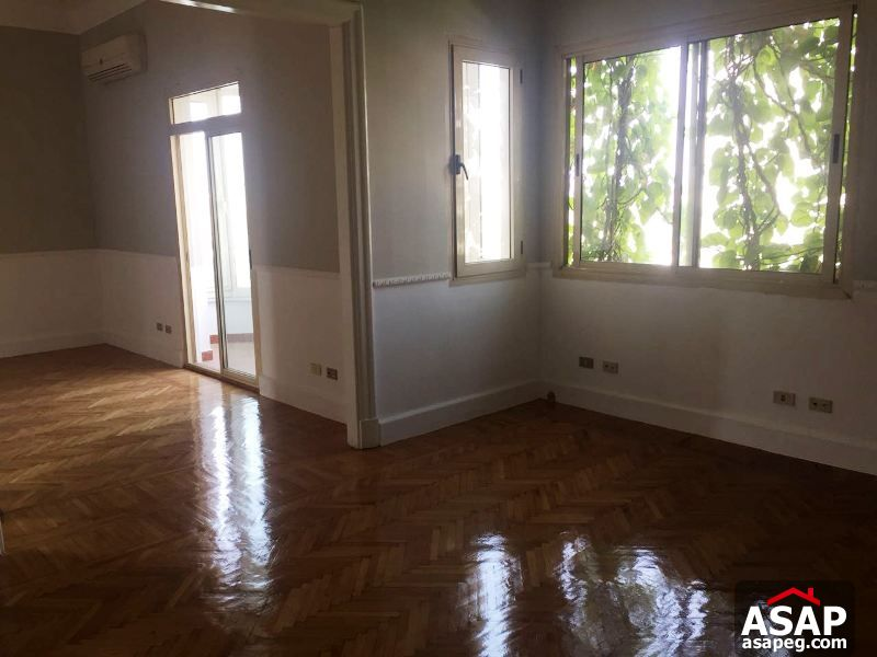 Flat with Balcony in Zamalek for Rent