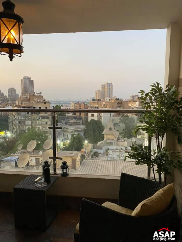 Flat with Nile View for Rent in Zamalek