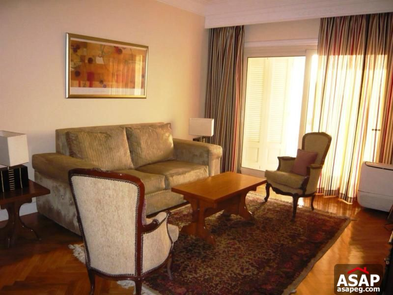 Apartment with Nile View for Rent in Zamalek