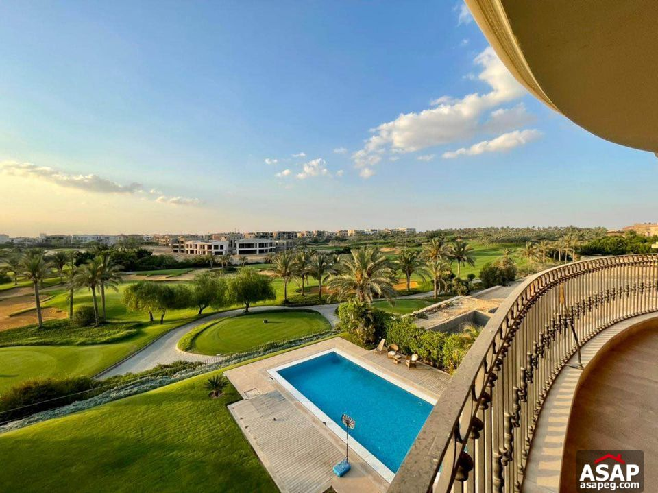 Apartment with Pool View for Rent in Katameya Dunes