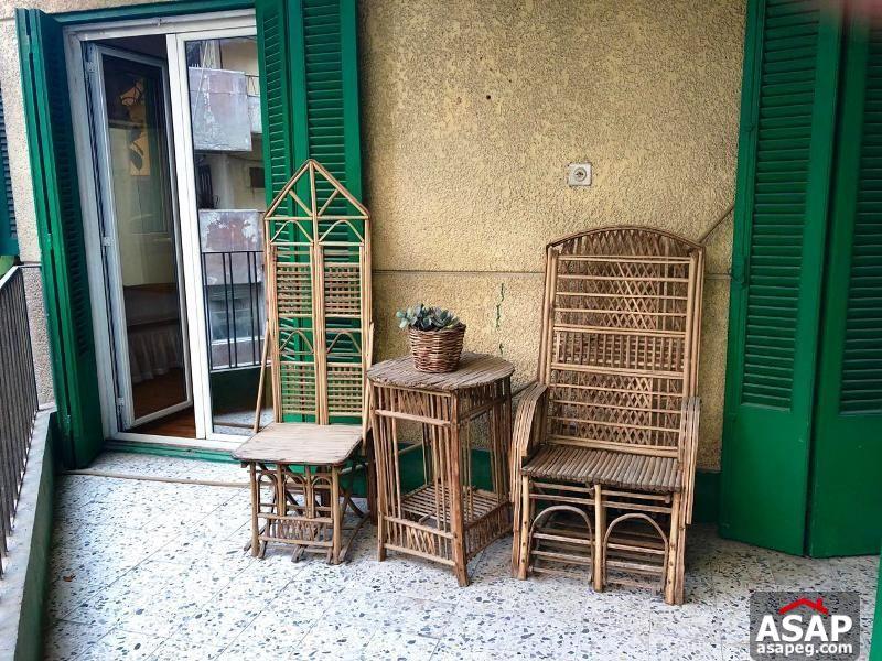 Flat with Big Balcony in Zamalek for Rent