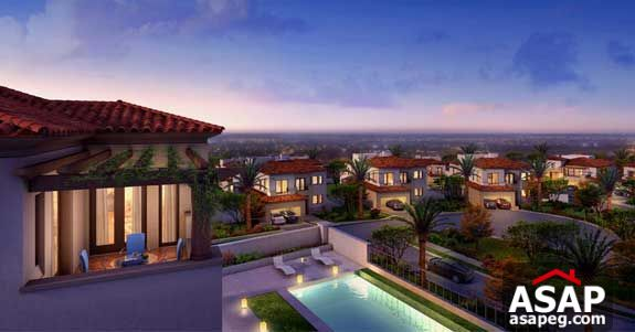 villa prime location with Golf view Uptown cairo
